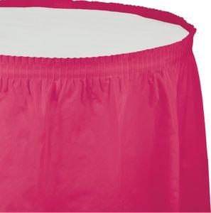 Plastik Tischrock Pink Magenta