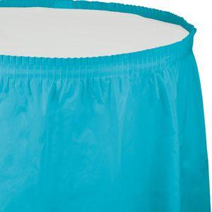 Plastik Tischrock Bermuda Blau