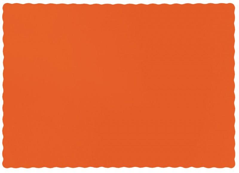 50 tischsets aus papier in orange. Black Bedroom Furniture Sets. Home Design Ideas