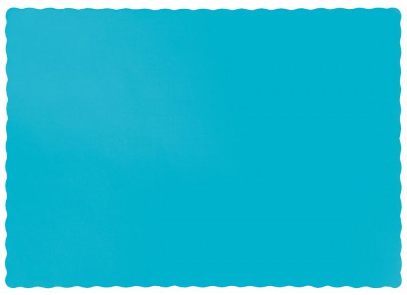 50 tischsets aus papier in bermuda blau. Black Bedroom Furniture Sets. Home Design Ideas