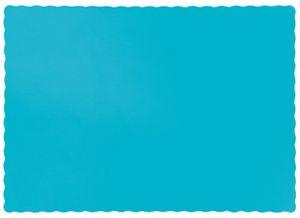 50 Tischsets aus Papier in Bermuda Blau