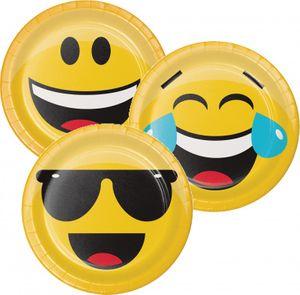 8 kleine Teller Emoticons sortiert – Bild 1