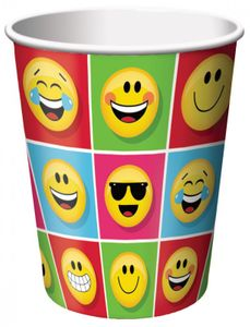 8 Papp Becher Emoticons