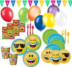 XXL Smiley Emoticons Party Deko Set für 16 Personen – Bild 1