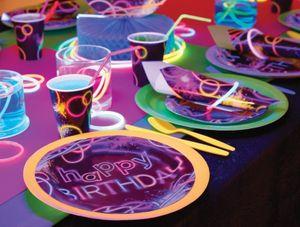 Tischaufsteller Knicklicht Neon Raver Party – Bild 3