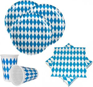 10 Teller Bavaria Oktoberfest Bayrisch Blau