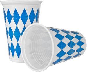 10 Becher Bavaria Oktoberfest Bayrisch Blau