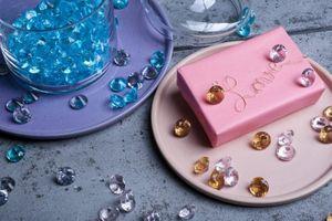 10 Deko Plastik Diamanten rosa - 20 mm Durchmesser – Bild 3