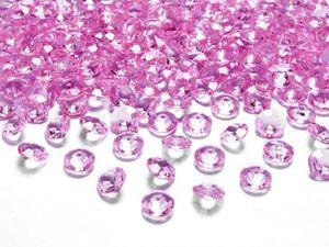 30g kleine Deko Plastik Diamanten pink - 12 mm Durchmesser - etwa 100 Stk.