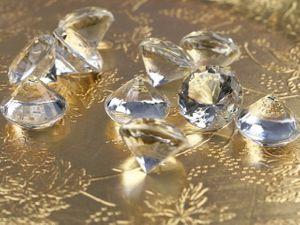 10 Deko Plastik Diamanten klar - 20 mm Durchmesser – Bild 2