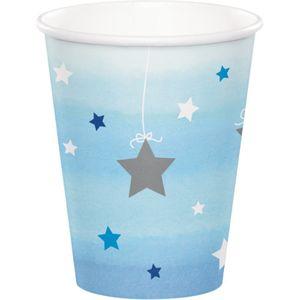 48 Teile Blinke Kleiner Stern Blau Party Deko Set 16 Personen für die Baby Shower oder Kindergeburtstag – Bild 3