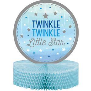 Tischaufsteller blinke kleiner Stern in Blau