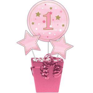 3 Kuchen oder Deko Stecker blinke kleiner Stern in Rosa – Bild 1
