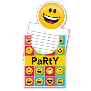 8 Einladungskarten Emoticons – Bild 1