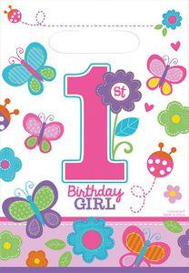 8 Party Tütchen Erster Geburtstag Sweet Girl