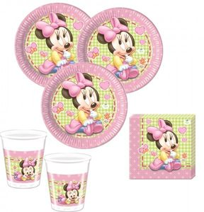 74 Teile Disney Baby Minnie Party Deko Set 16 Personen – Bild 2