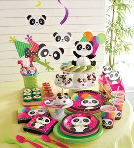 16 Servietten Pink Panda Bär – Bild 3