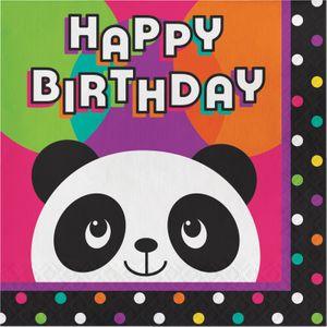 16 Geburtstags Servietten Pink Panda Bär – Bild 1