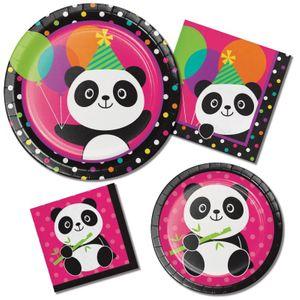 8 kleine Teller Pink Panda Bär – Bild 2