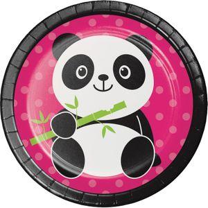 8 kleine Teller Pink Panda Bär – Bild 1