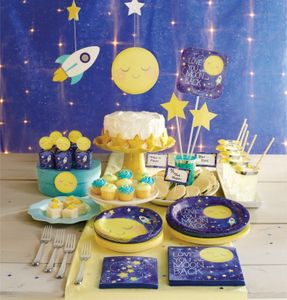 16 Baby Shower Servietten I love you to the Moon and Back – Bild 3