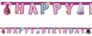 Trolls Geburtstags Girlande – Bild 1