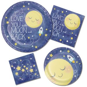 Baby Shower Girlande am Satinband I love you to the Moon and Back – Bild 2