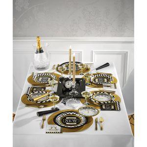 16 Silvester Servietten Black and Gold – Bild 3