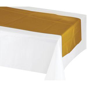 Tischläufer in glänzendem Gold Metallic – Bild 1