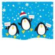 50 Servietten Pinguine im Schnee