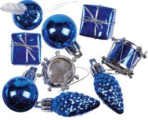 kleines Weihnachtspotpurri Set 14 Stück in Blau – Bild 1