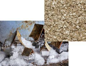 Weißer Deko Schnee mit Gold Glitzer  – Bild 1