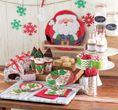 48 tlg. Weihnachtsplätzchen Partygeschirr für 16 Personen zur Adventsfeier