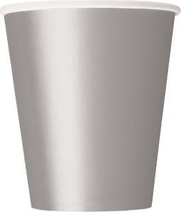 8 Papp Becher Silber