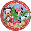 8 Papp Teller Micky + Minnie Weihnacht