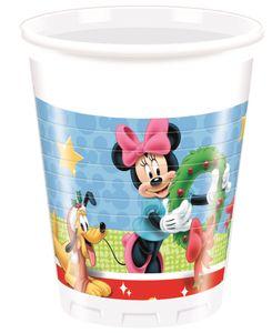 8 Becher Micky + Minnie Weihnacht