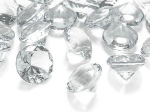 5 Deko Plastik Diamanten klar - 30 mm Durchmesser – Bild 1