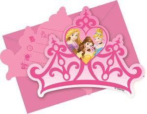 6 Einladungskarten Disney Princess Dreaming