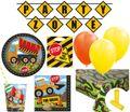XL 73 Teile Baustelle Party Deko Set für 8 Kinder