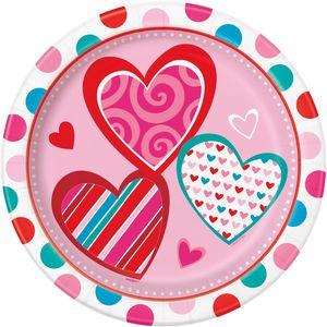 8 Teller Valentinstag Herzchen