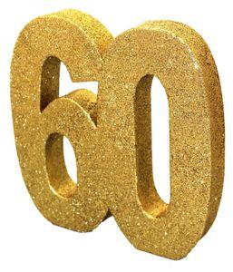 [Paket] 27 tlg. Party Deko Set zum 60. Geburtstag oder Jubiläum in Schwarz & Gold