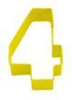 Keks Ausstecher in Form der Zahl 4