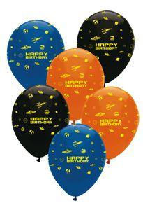 24 Geburtstags Luftballons Weltraum