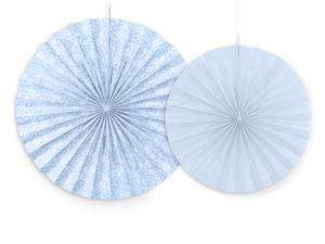 2 hängende Dekofächer Pastell Blau Muster