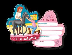 6 Bibi und Tina Einladungskarten – Bild 1
