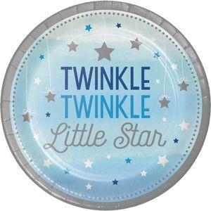 8 kleine Papp Teller blinke kleiner Stern