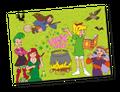 63 Teile Bibi Blocksberg Party Deko Basis Set - für 6-8 Kinder