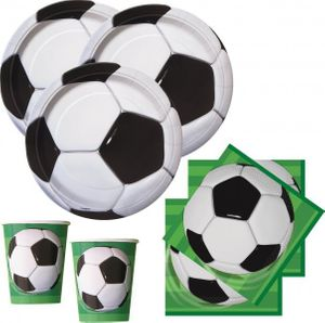 [Paket] XXL 93 Teile Fußball Party Deko Set für 8 Personen