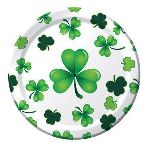 8 kleine Teller St. Patricks Day stilvolles Kleeblatt