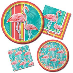 8 Einladungskarten Flamingo Island – Bild 2